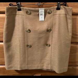 LOFT Beige Skirt